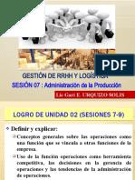 SESION 07 LA FUNCION OPERACIONES