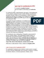 Cambios que trajo la constitución de 1991- presidentes