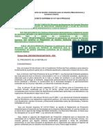 Reglamento de Gestión Ambiental Para La Industria Manufacturera y Comercio Interno
