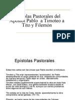 Timoteo, Tito y Filemon