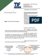 Model lettre recommandation