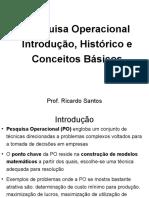 PO - INTRODUÇÃO - HISTÓRICO - CONCEITOS BÁSICOS - Ricardo Santos