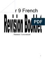 Y9 French Summer Revision Booklet