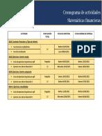 Cronograma de Actividades MF 2021.1