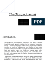 The Giorgio Armani presentation