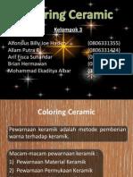 Coloring Ceramic