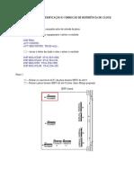 Procedimento para Verificação e correção de referência de CLOCK
