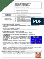 Plano Semanal - Infantil 4 - 06 a 11 de Setembro
