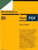 CUADERNOS METODOLÓGICOS Observación Participante