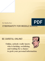 Cybersafety for Middle School slideshow
