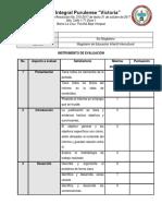 Instrumento de Evaluación, Seminario