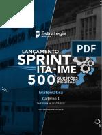Sprint ITA IME - Matemática - Caderno 01