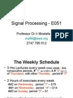 Signal Processing E051