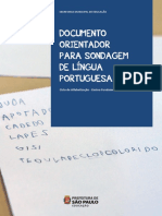 Sondagem Lingua Portuguesa