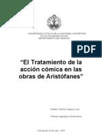 """""""El Tratamiento de la acción cómica en las obras de Aristófanes"""""""