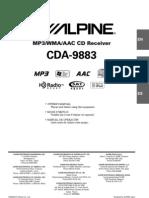 Alpine CDA-9883 Owner's Manual