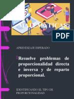 Proporcionalidad Inversa y directa