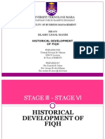 Historical Development of Fiqh