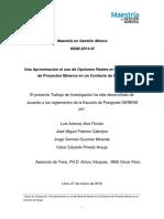 TESIS UNA APROXIMACION AL USI DE OPCIONES REALES EN LA EVALUACION DE PROYECTOS MINEROS EN UN CONTEXTO DE RIESGO