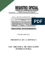 Ro 417 20110331 Ley Orgánica de Educación Intercultural