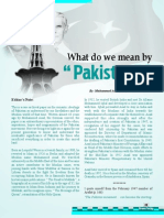 What Do We Mean by Pakistan