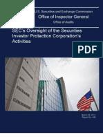 SEC OIG Report Re- SIPC Oversight