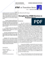 Strengthening ARMM Elections