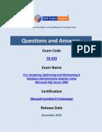 Microsoft-70-450-Exam-MySQL-Server-2008 3-29-2001