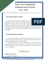 Planejamento Anual de Ciencias 1º Ano - 2021