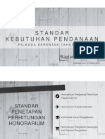 Usulan Perubahan Struktur Kebutuhan Pendanaan Pilkada 2020
