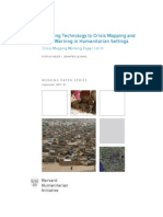 Applying Technology to Crisis Mapping and   Early Warning in Humanitarian Settings