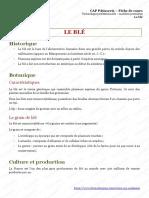 CAP Patisserie Le Ble