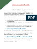 Notions générales sur la gestion de qualité (BTP CE)