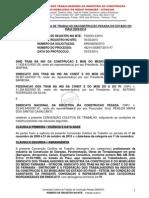 CONVENÇÃO COLETIVA DE TRABALHO DACONSTRUÇÃO PESADA DO ESTADO DO