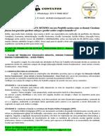 Plano de Trabalho de Estágio Pedagogia 2021.2 - Reformulação Devido à Pandemia Covid-19