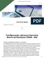 Configuração cobrança bancária Banco do Nordeste CNAB – 400