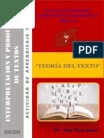 TEORÍA DEL TEXTO (TEMA DESARROLLADO)