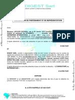 Convention de Partenariat Et de Représentation #Digest #Aei2 (1)