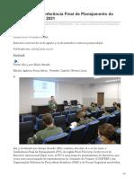 fab.mil.br-ALA 5 realiza Conferência Final de Planejamento do Exercício TÁPIO 2021