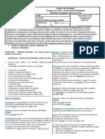 SEM RESPOSTAS - LÍNGUA PORTUGUESA- 2ª QUINZENA DE AGOSTO - 6M01