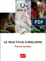 Le multiculturalisme - Patrick Savidan