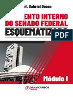 Regimento Interno Do Senado Esquematizado - Prof. Gabriel Dezen (Módulo I)