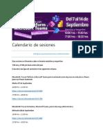 Calendario de sesiones Curso en línea maestras y maestros Edomex 2021