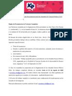 Normativa de presentación de ponencias 2020