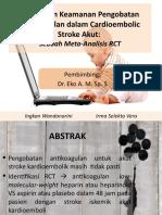 Efikasi dan Keamanan Pengobatan antikoagulan dalam Cardioembolic Stroke