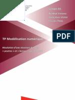 CR TP modélisation numérique portique