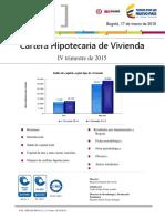 Boletin Cartera Hipotecaria de Vivienda IV trimestre 2015
