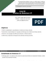 Aula 04 - Análise de Sistemas LTI