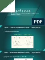 Matematicas Tema 6 Funciones Logaritmicas-2021