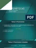 Matematicas Tema 4 Funciones - 2021